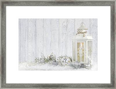 Christmas Lantern Framed Print by Maria Dryfhout