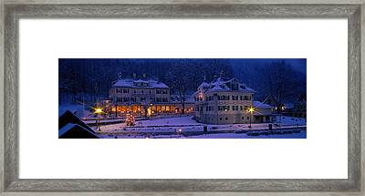 Christmas Lights, Hohen-schwangau Framed Print by Panoramic Images
