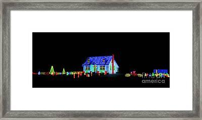 Christmas Lights Framed Print by Olivier Le Queinec