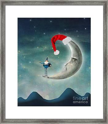 Christmas Moon Framed Print by Juli Scalzi