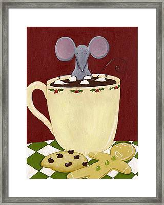 Christmas Mouse Framed Print by Christy Beckwith