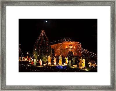 Christmas Nativity Scene Framed Print by Ram Vasudev