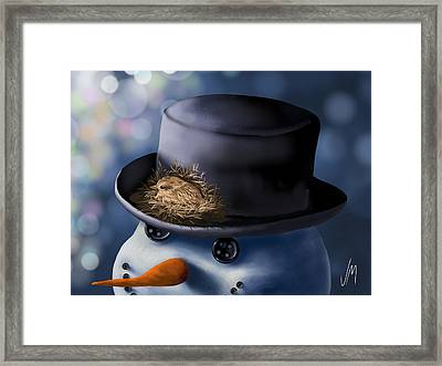 Christmas Nest Framed Print by Veronica Minozzi