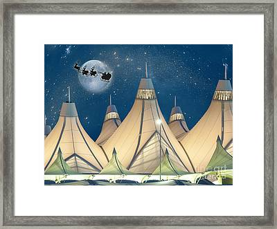 Christmas Night At Denver International Airport Framed Print by Juli Scalzi