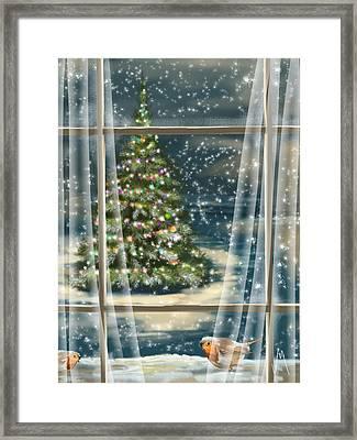 Christmas Night Framed Print by Veronica Minozzi