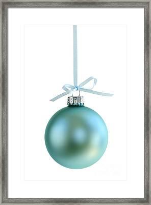 Christmas Ornament On White Framed Print by Elena Elisseeva
