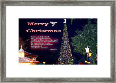 Christmas Peace - Christmas Calm Framed Print by Terry Wallace