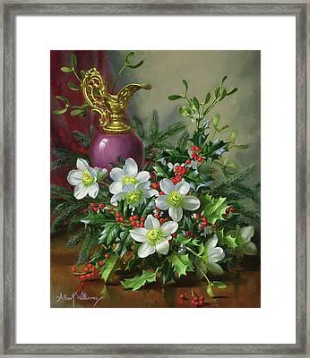 Christmas Roses Framed Print by Albert Williams