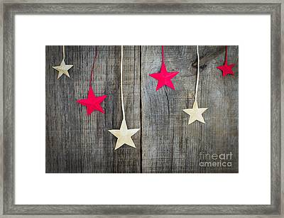 Christmas Star Decoration Framed Print by Aged Pixel