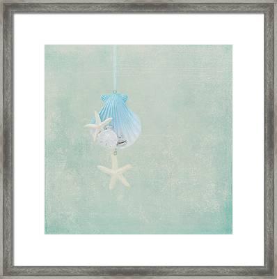 Christmas Starfish Framed Print by Kim Hojnacki