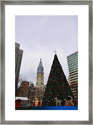 Christmas Time In Philly Framed Print by Bill Cannon