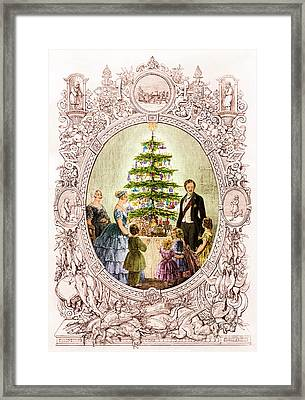 Christmas Tree At Windsor Castle 1848 Framed Print by Photo Researchers