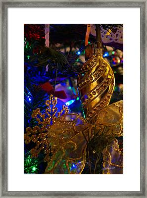 Christmas Tree Detail 2 Framed Print by Mick Anderson