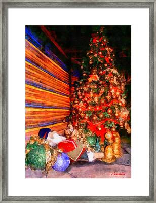 Christmas Tree Framed Print by George Rossidis