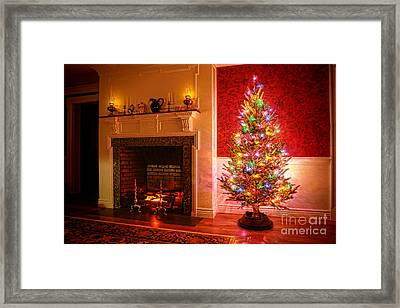 Christmas Tree Framed Print by Olivier Le Queinec