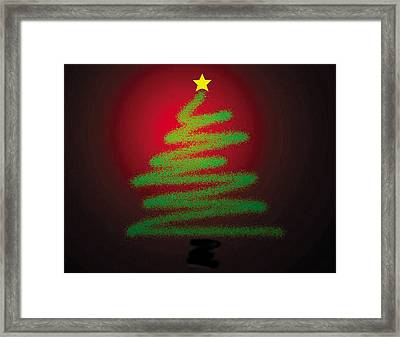 Christmas Tree With Star Framed Print by Genevieve Esson
