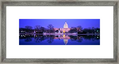 Christmas, Us Capitol, Washington Dc Framed Print by Panoramic Images