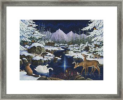 Christmas Wonder Framed Print by Lynn Bywaters