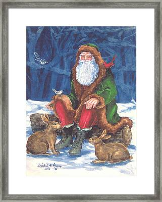 Christmas Woodland Series Framed Print by Barbel Amos