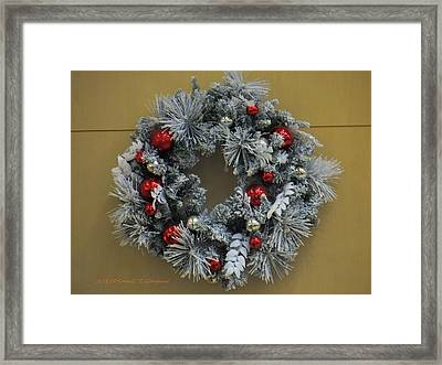 Christs Birthday Framed Print featuring the photograph Christmas Wreath by Sonali Gangane