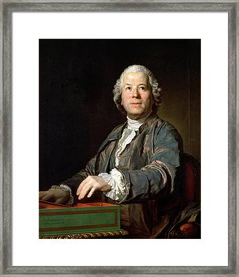 Christoph Willibald Gluck 1714-87 At The Spinet, 1775 Oil On Canvas Framed Print by Joseph Siffred Duplessis