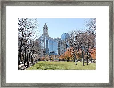 Christopher Columbus Park Framed Print by Nancy A Santry
