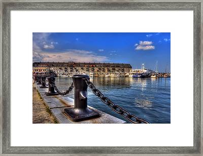 Christopher Columbus Park Waterfront Framed Print by Joann Vitali