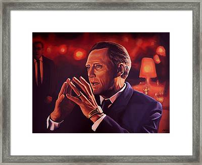 Christopher Walken Painting Framed Print by Paul Meijering
