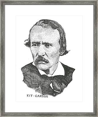 Christopr Kit Carson Framed Print by Clayton Cannaday