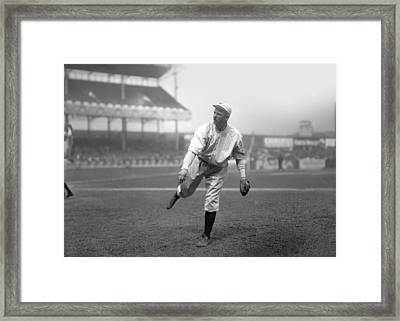 Christy Mathewson Pitching Framed Print by Retro Images Archive