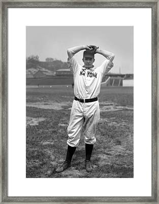 Christy Mathewson Wind Up Framed Print by Retro Images Archive