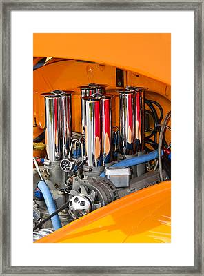 Chrome Colored Stacks Framed Print by Carolyn Marshall