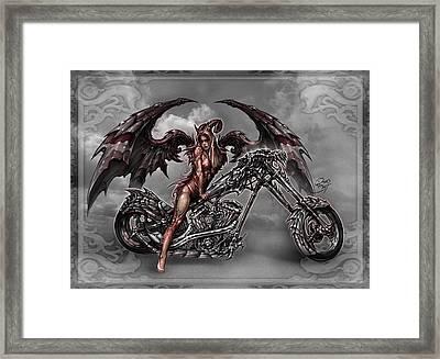 Chrome Dragon Framed Print by David Bollt