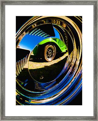Chrome Hubcap Framed Print by Phil 'motography' Clark