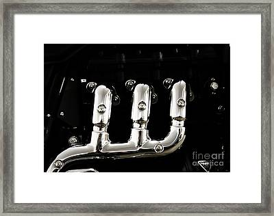 Chrome Lines Framed Print by Four Hands Art