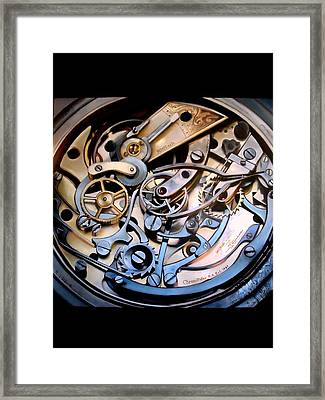 Chronometer A Study In The Mechanics Of Time Framed Print by Paul Gilbert Baswell