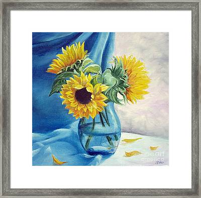 Chrysanthemums Framed Print by Sorin Apostolescu