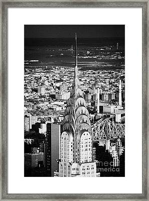 Chrysler Art Deco Building  New York City Skyline Cityscape Usa Framed Print by Joe Fox