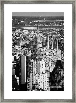 Chrysler Art Deco Building New York City Usa Framed Print by Joe Fox
