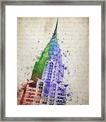 Chrysler Building Framed Print by Aged Pixel