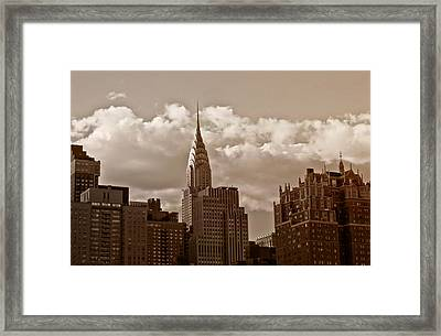 Chrysler Building And The New York City Skyline Framed Print by Vivienne Gucwa