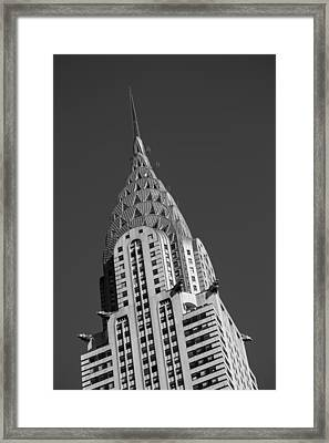 Chrysler Building Bw Framed Print by Susan Candelario