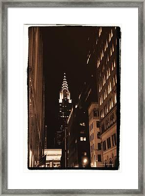 Chrysler Building Framed Print by Donna Blackhall