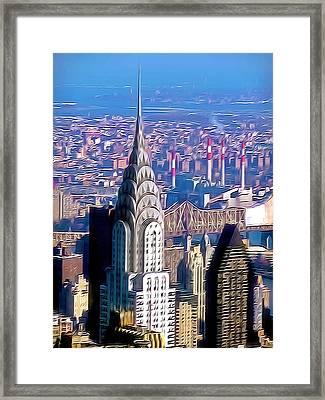 Chrysler Building In Midtown Manhattan  Framed Print by Lanjee Chee