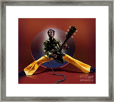 Chuck Berry - This Is How We Do It Framed Print by Reggie Duffie