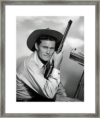 Chuck Connors - The Rifleman Framed Print by Mountain Dreams
