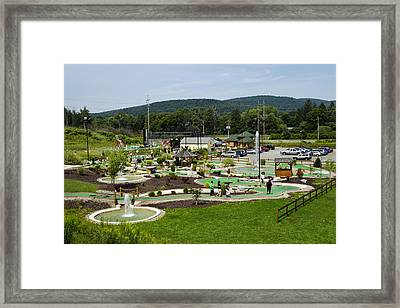 Chuckster's Mini Golf Course Framed Print by Christina Rollo