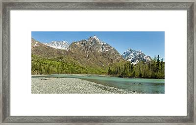 Chugach Mountains And Eagle River Framed Print by Panoramic Images