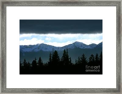 Chugach Mountains Framed Print by Crystal Magee