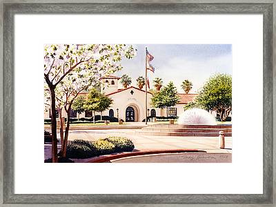 Chula Vista City Hall Framed Print by Mary Helmreich